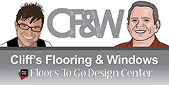 Cliff's Flooring & Windows is your one stop shop for all of your carpet, hardwood, tile, stone, laminate, vinyl and window fashion needs!  Stop by today!